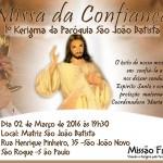 Missa da Confiança – Paróquia São João Batista – São Roque